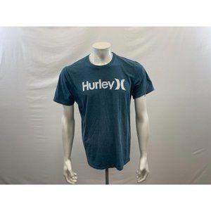 Hurley Men's Blue Hurley Lettering Short Sleeve